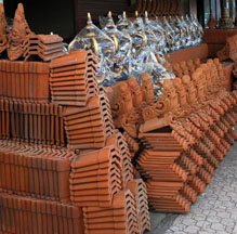 Roof Tiles in Bali, Indonesia