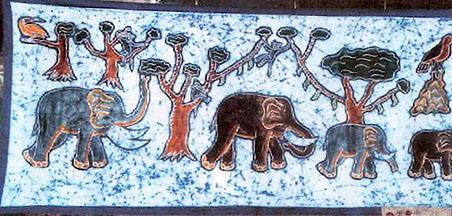 Art Batik Cameroon Africa